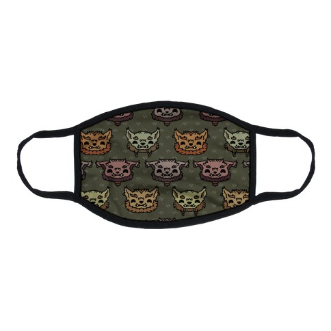 Cute Bugbear Pattern Flat Face Mask