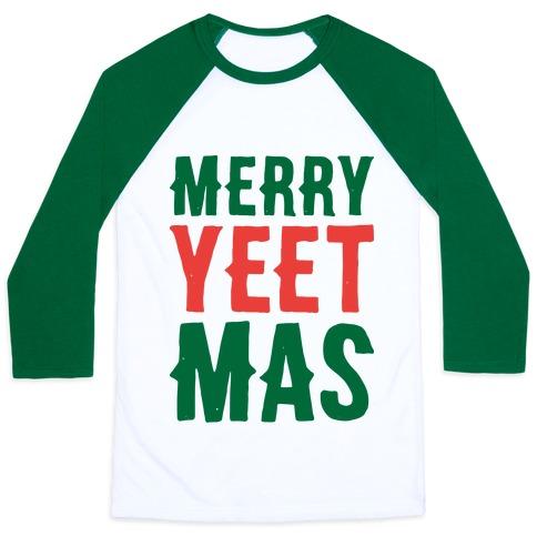 Merry Yeetmas Christmas Baseball Tee