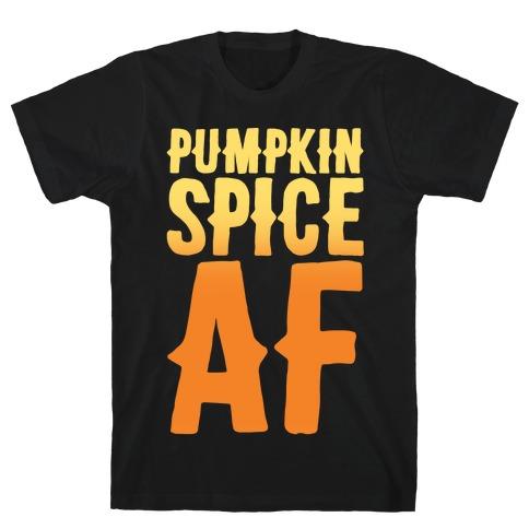 Pumpkin Spice Af White Print Mens T-Shirt