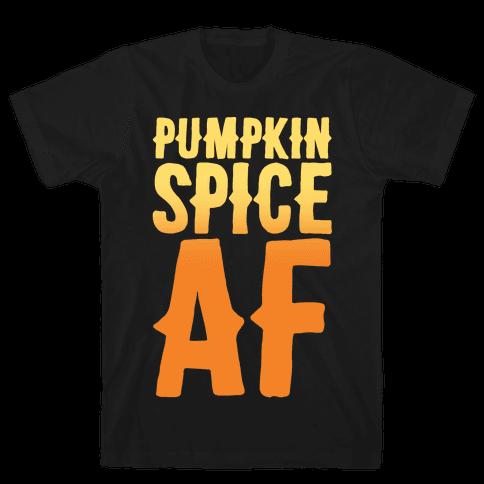 Pumpkin Spice Af White Print