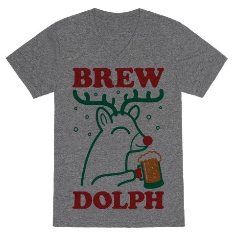 Brewdolph V-Neck Tee Shirt