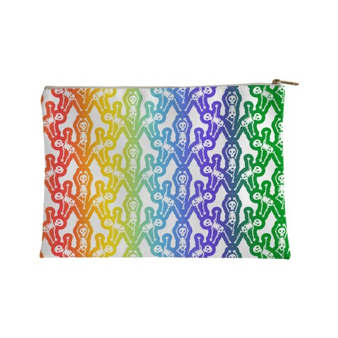 Gay Skeleton Pattern Accessory Bag