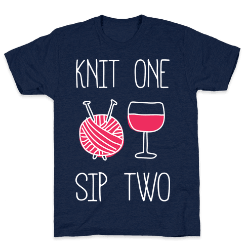 Knit One Sip Two Mens T-Shirt