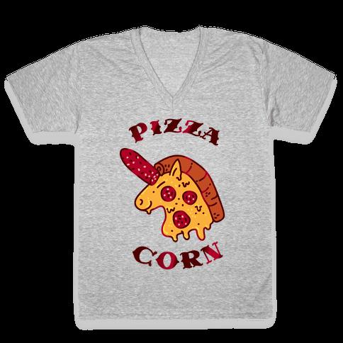 Pizzacorn V-Neck Tee Shirt