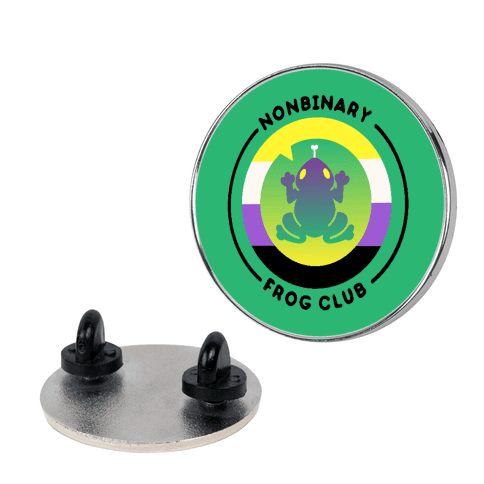 Non Binary Frog Club Patch Pin