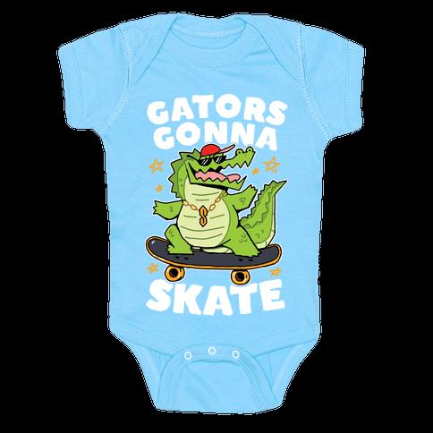 Gators Gonna Skate Baby One-Piece