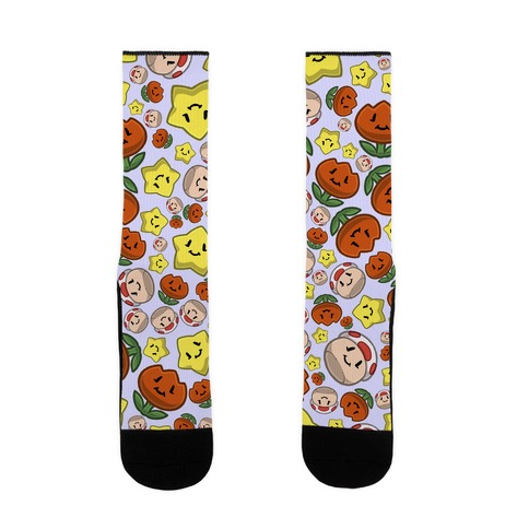 Stuffed Powerups Pattern Sock