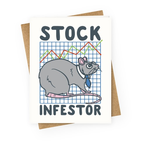 Stock Infestor Parody Greeting Card