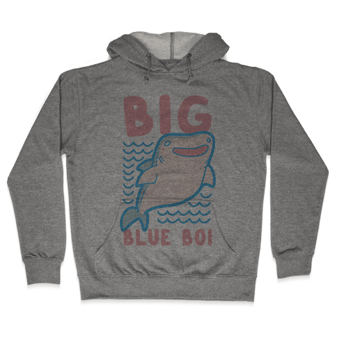 Big Blue Boi - Whale Shark Hooded Sweatshirt