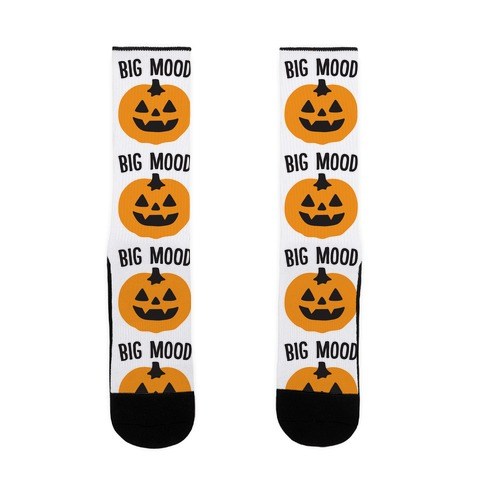 Big Mood Jack-o-lantern Sock