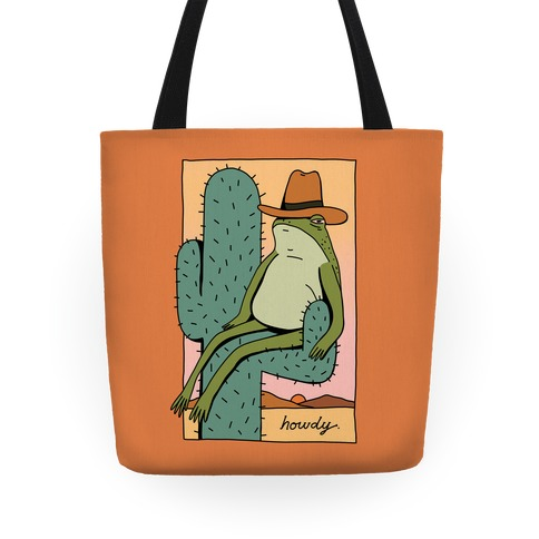 Howdy Frog Cowboy Tote