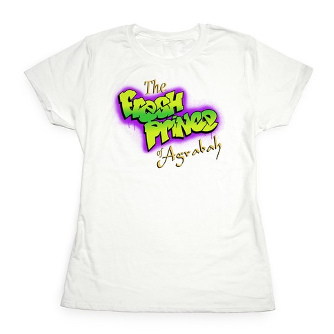 Fresh Prince of Agrabah 90s Parody Womens T-Shirt