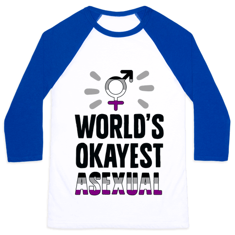 World's Okayest Asexual Baseball Tee