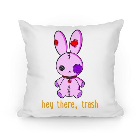 Creepy Cute Rag Bunny  Pillow