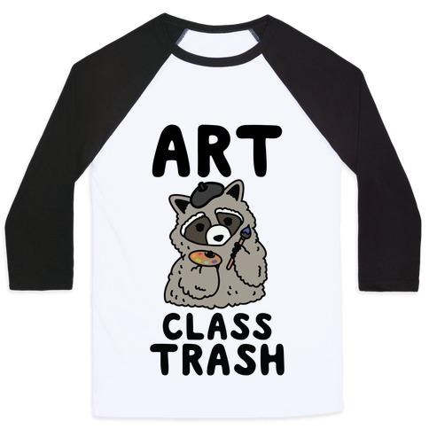 Art Class Trash Raccoon Baseball Tee