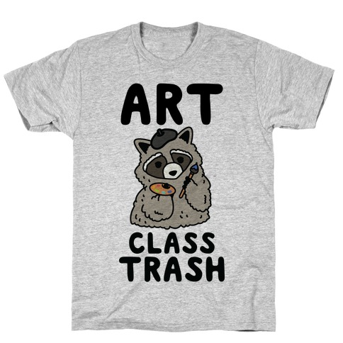 Art Class Trash Raccoon Mens/Unisex T-Shirt