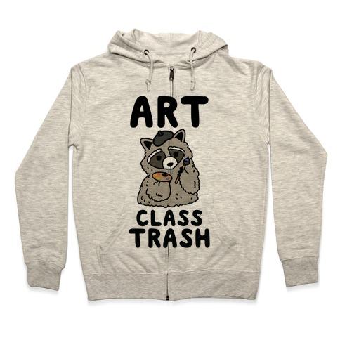 Art Class Trash Raccoon Zip Hoodie