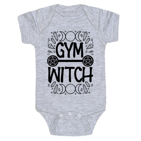 Gym Witch Baby Onesy