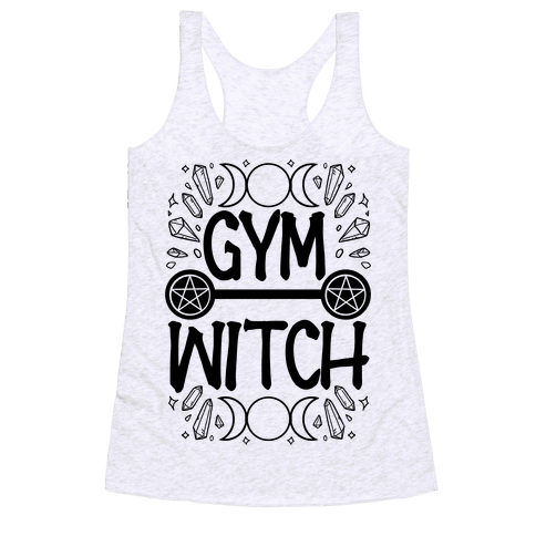 Gym Witch Racerback Tank Top
