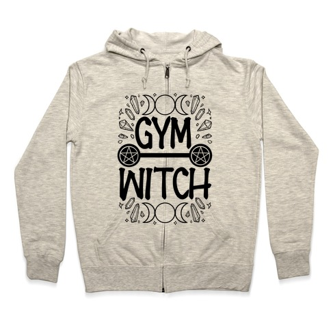 Gym Witch Zip Hoodie