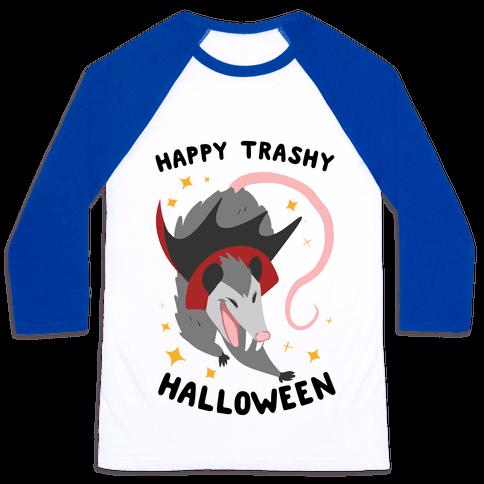 Happy Trashy Halloween Baseball Tee