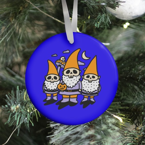 Happy Hall-Gnome-Ween (Halloween Gnomes) Ornament