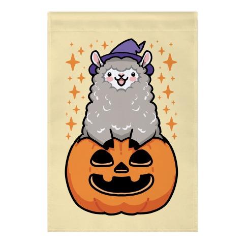 Cute Halloween Alpaca Garden Flag