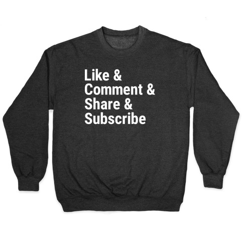 Like Comment Share Subscribe Pullover