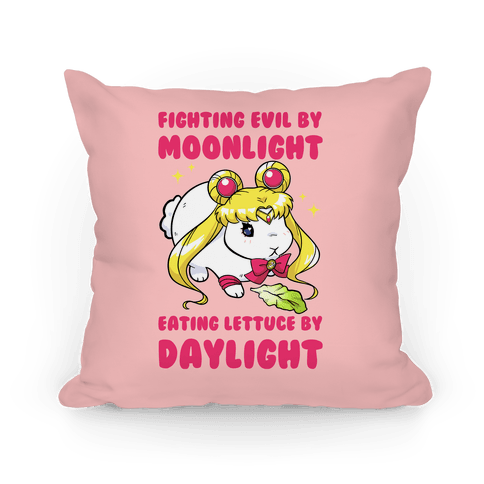 Fighting Evil By Moonlight Eating Lettuce By Daylight Pillow