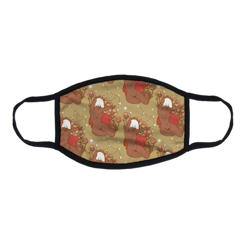 Zodiac Pinup Virgo Flat Face Mask
