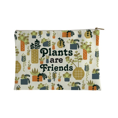 Plants Are Friends Retro Accessory Bag