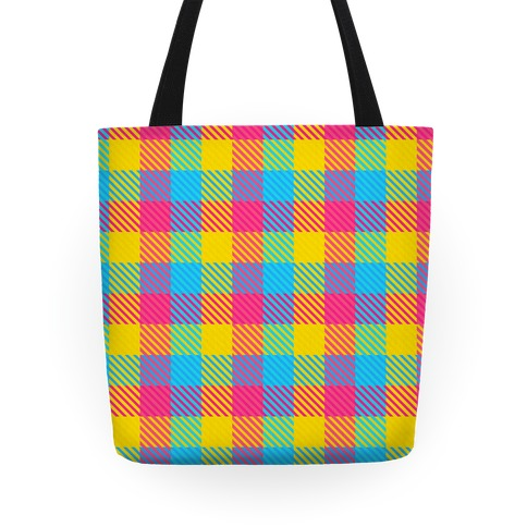 Pan Pride Flag Plaid Tote