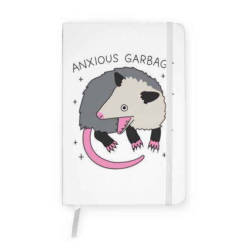 Anxious Garbage Opossum Notebook