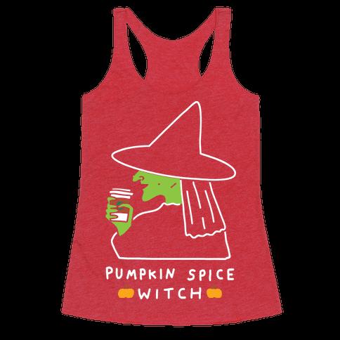 Pumpkin Spice Witch Racerback Tank Top
