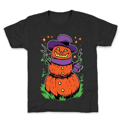 Pumpkin Snowman Kids T-Shirt