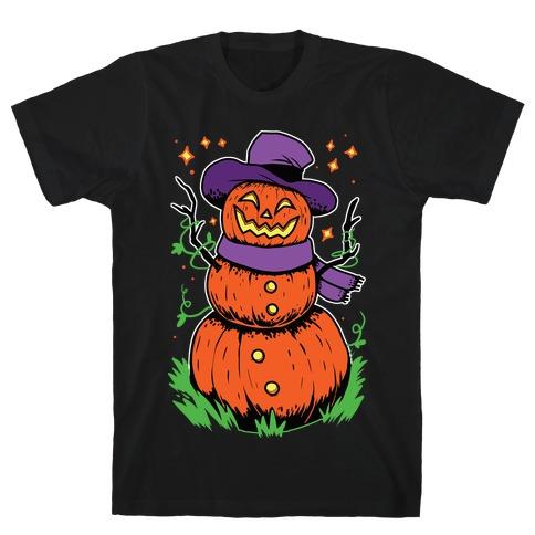 Pumpkin Snowman T-Shirt