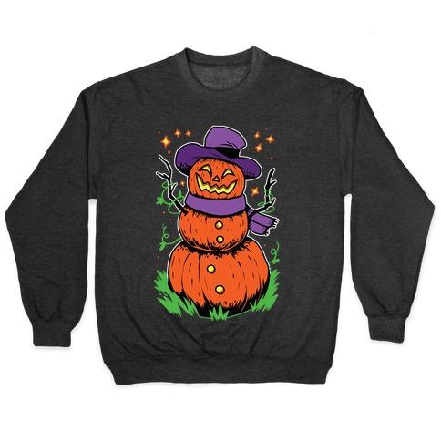 Pumpkin Snowman Pullover