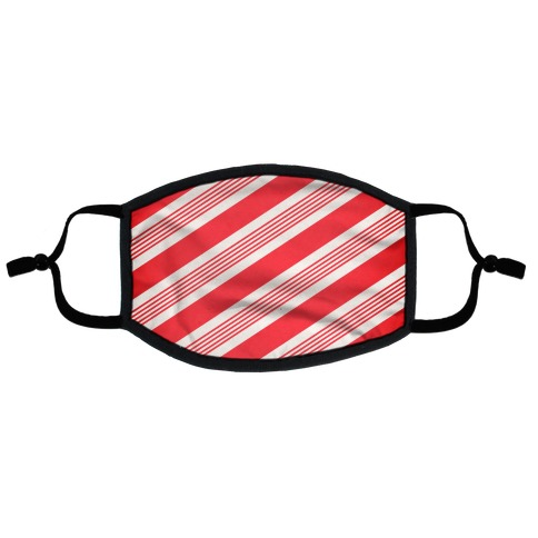 Candy Cane Stripe Pattern Flat Face Mask
