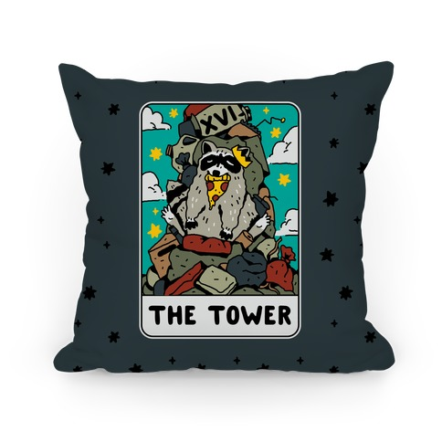 The Garbage Tower Tarot Pillow