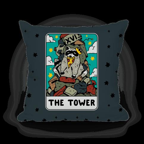 The Garbage Tower Tarot Pillow