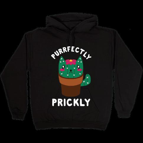 Purrfectly Prickly Hooded Sweatshirt