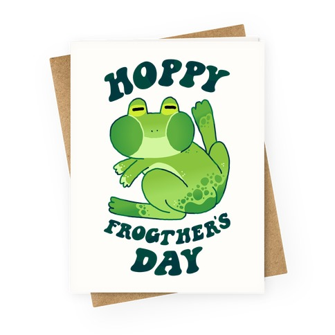 Hoppy Frogther's Day Greeting Card