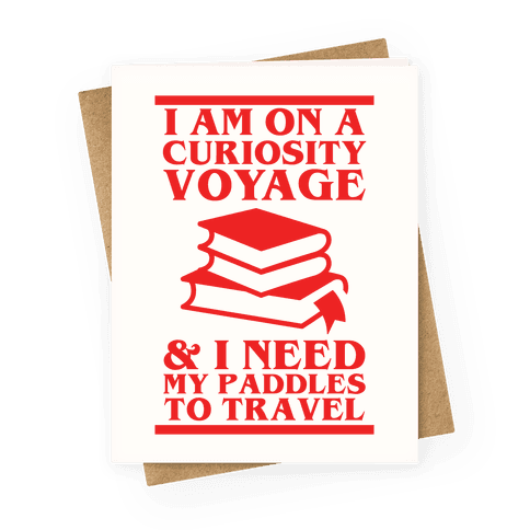 Curiosity Voyage Greeting Card