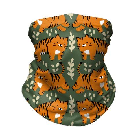 Chubby Tiger Pattern Green Neck Gaiter