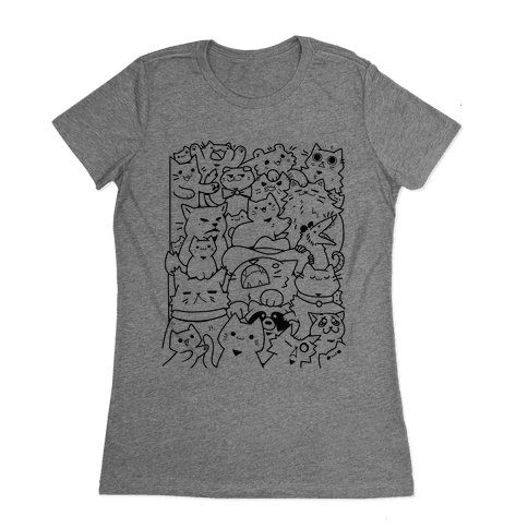 CATS CATS CATS! Womens T-Shirt