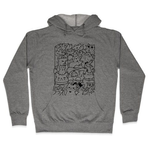 CATS CATS CATS! Hooded Sweatshirt