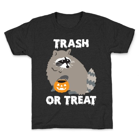 Trash Or Treat Raccoon Kids T-Shirt