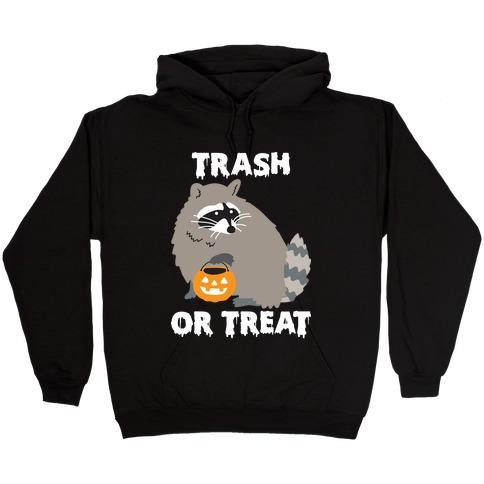 Trash Or Treat Raccoon Hooded Sweatshirt
