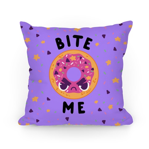 Bite Me (Donut) Pillow