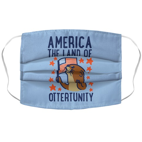 America The Land of Ottertunity Accordion Face Mask